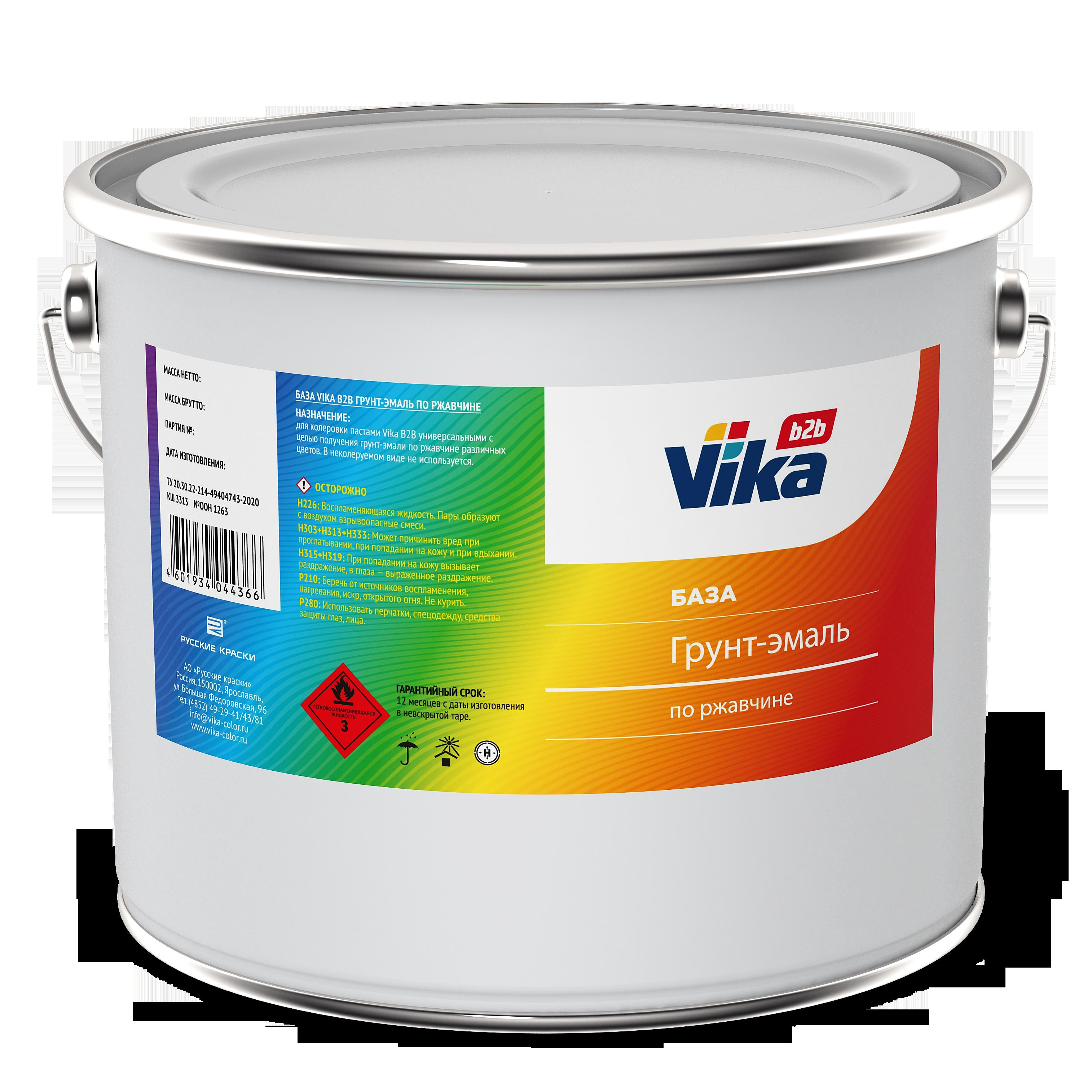 База VIKA В2В грунт-эмаль по ржавчине